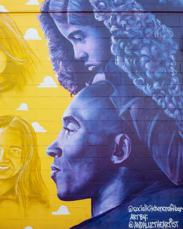 Rachel Off Duty: A Close-Up of the Kobe Bryant Memorial Mural in Costa Mesa
