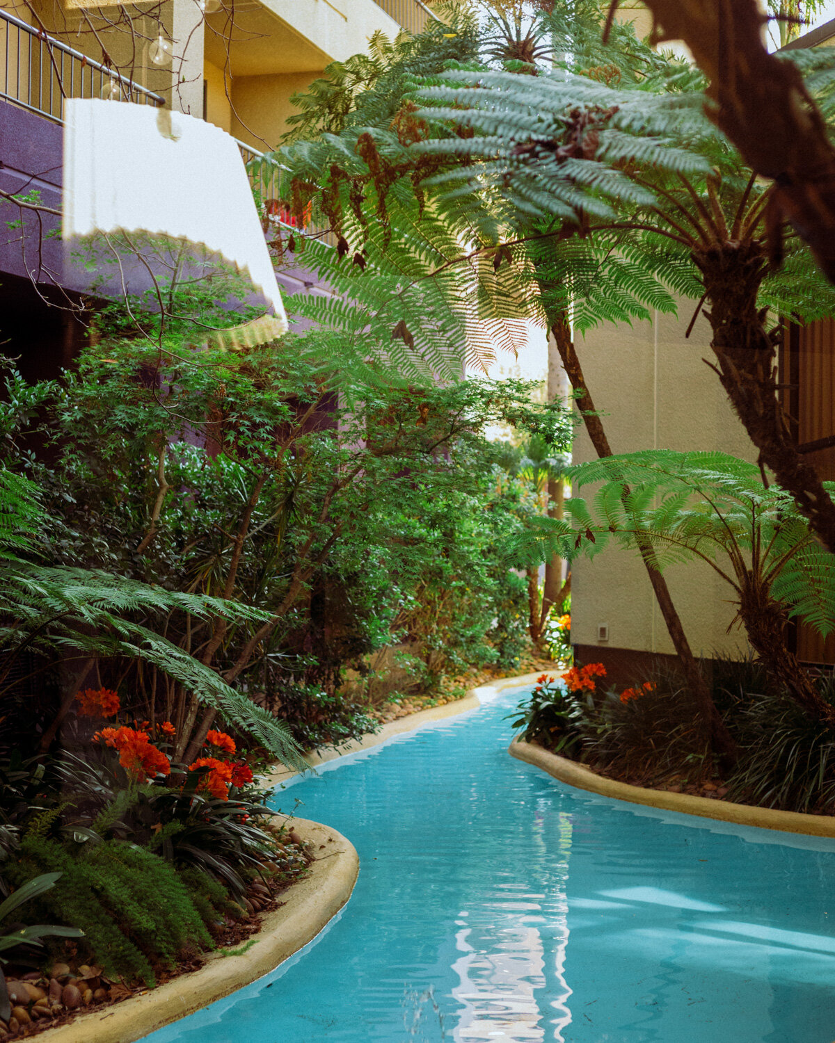 Rachel Off Duty: A Manmade River Flowing Past a Hotel Lobby