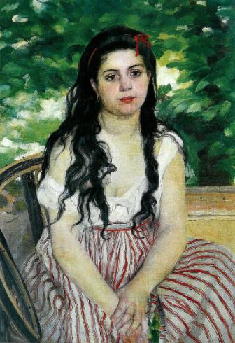 Auguste Renoir, En été – La bohémienne