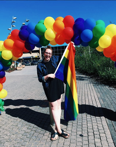 At my hometown's very first Pride celebration in 2017.