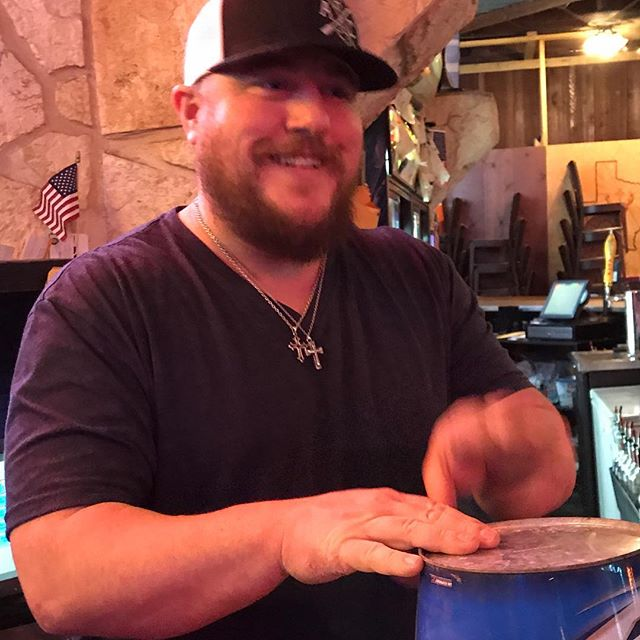 Had ole Fish from @mikeryanband #Bartending at our show this weekend in #ftworth or was it? Maybe #MikeRyan has another twin musician in the band