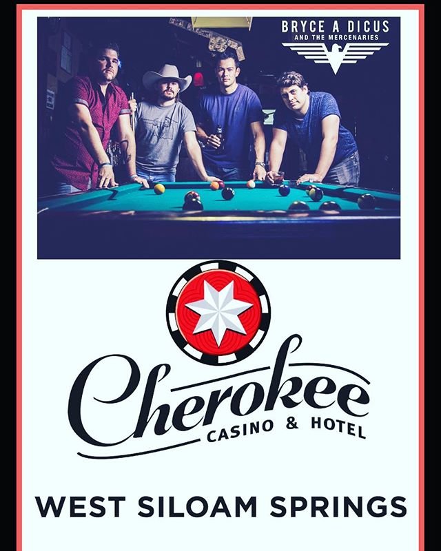 Join us #FridayNight in #SiloamSprings at #Cherokee #Casino for some #livemusic and #gambling #gypsysoul #countrymusic #reddirt #brycedicusandthemercinaries #arkansas #friday