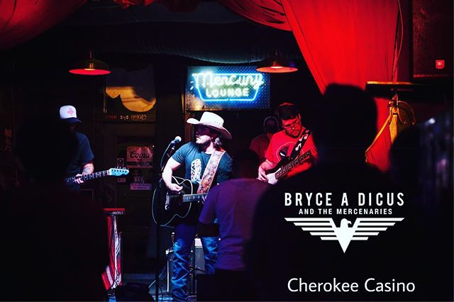 Let's have some #fun #Fridaynight at #cherokeecasino in #siloamsprings #livemusic #drinks #gambling #countrymusic #friday #arkansas #brycedicusandthemercinaries #BAD #gypsysoul