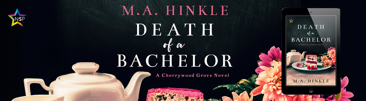 A banner image featuring the cover of Death of a Bachelor by M.A. Hinkle.