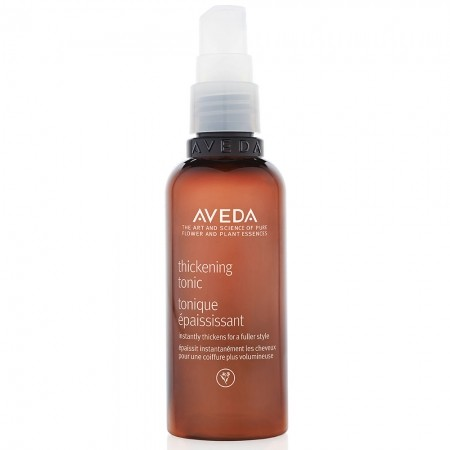 2. Thickening Tonic    This is your new best friend. Apply Aveda's Thickening Tonic to towel-dried hair and comb through. Amla fruit instantly expand strands from roots to ends. Wheat and corn boost thickening and hold your style.