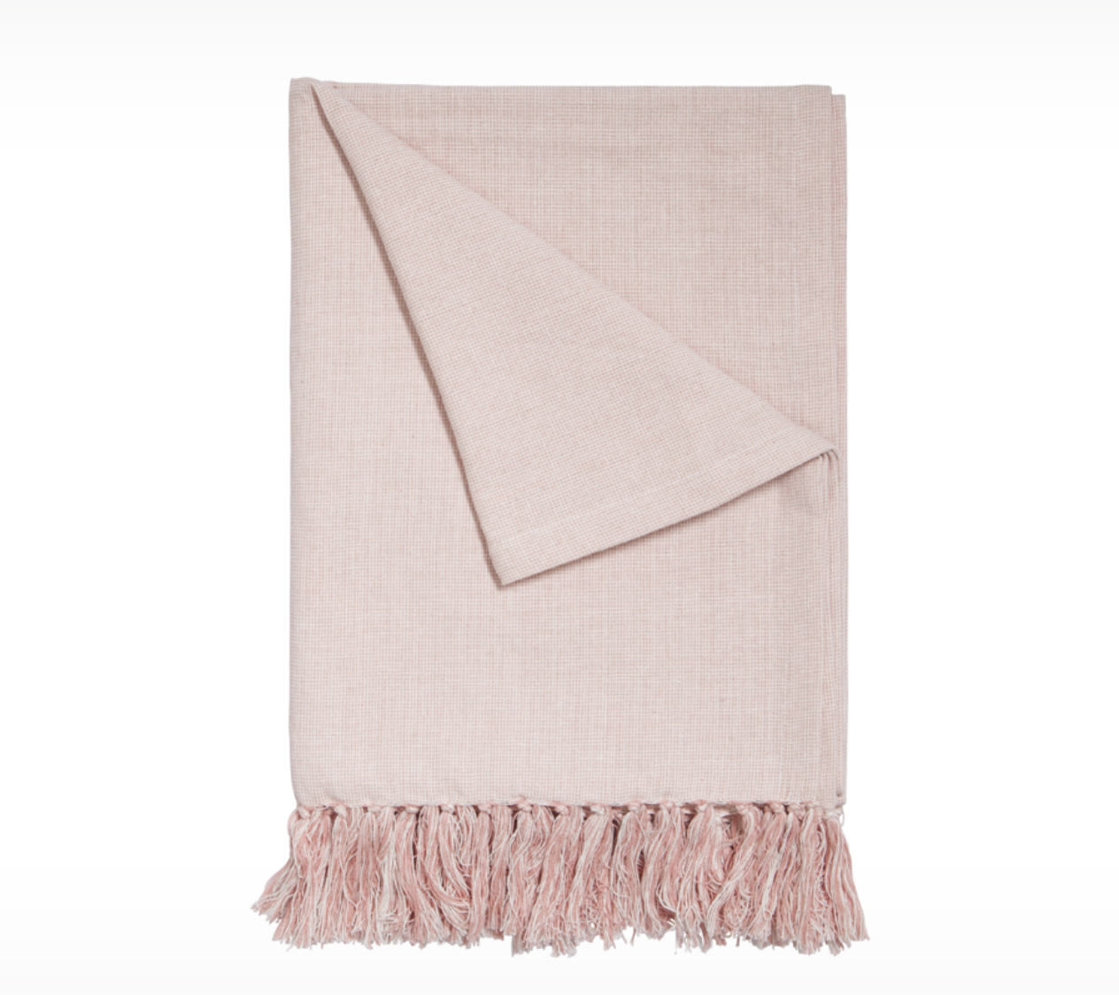 If you know me, you know I am never far away from a throw blanket. Comfort comes hand in hand with wrapping yourself up with something soft and warm! Deep down, I am a blue/green girl but  this soft blush throw  gets me rethinking things!