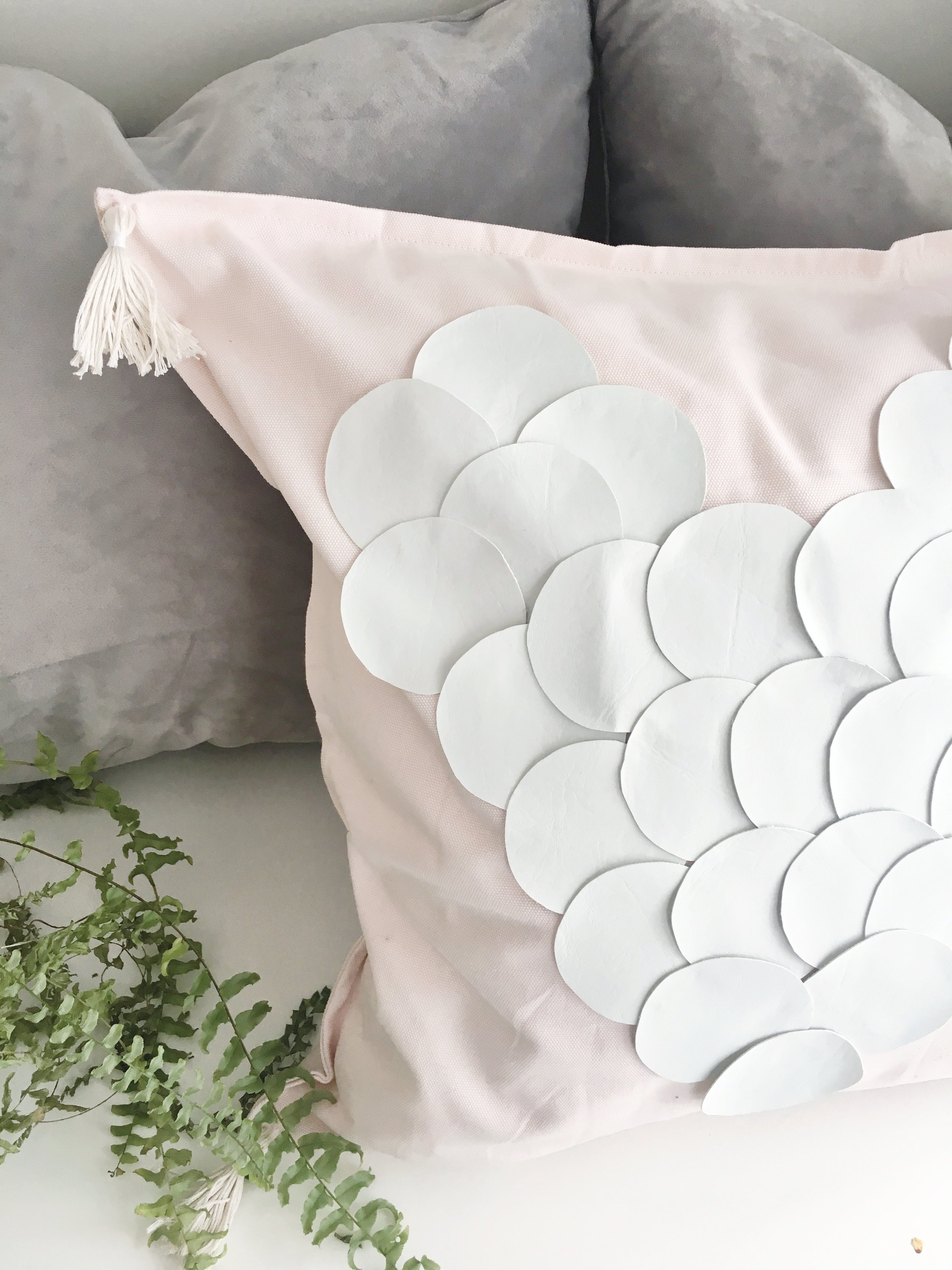 STEP SEVEN - Stuff the cover with the pillow insert and get ready to receive multiple compliments from your guests!