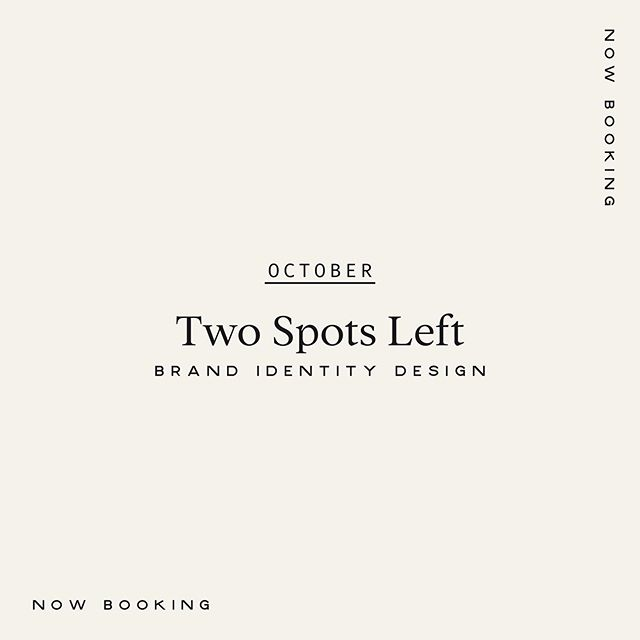 October is filling up! DM if you're looking for a brand refresh rooted in deeper meaning. ⁣ ⁣ Oh and I've just upgraded my client 'questionnaire' (AKA homework!) to a one hour strategy call 👏 This will allow me to dig deeper into your brand, understand your target market and challenge any assumptions you may have. My ultimate goal when designing is to solve problems, not to merely make you look pretty...and this all begins with strategy.⁣ ⁣ Hit me up to get started ⚡️