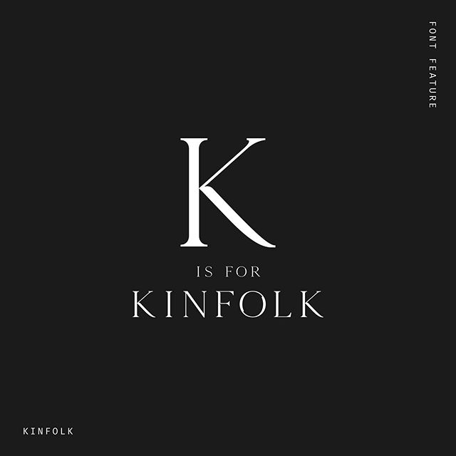 Just started working with this dreamy font 😍 Kinfolk is a smooth, luxe, serif font, modernised with unique curves and cut-ins. Like??