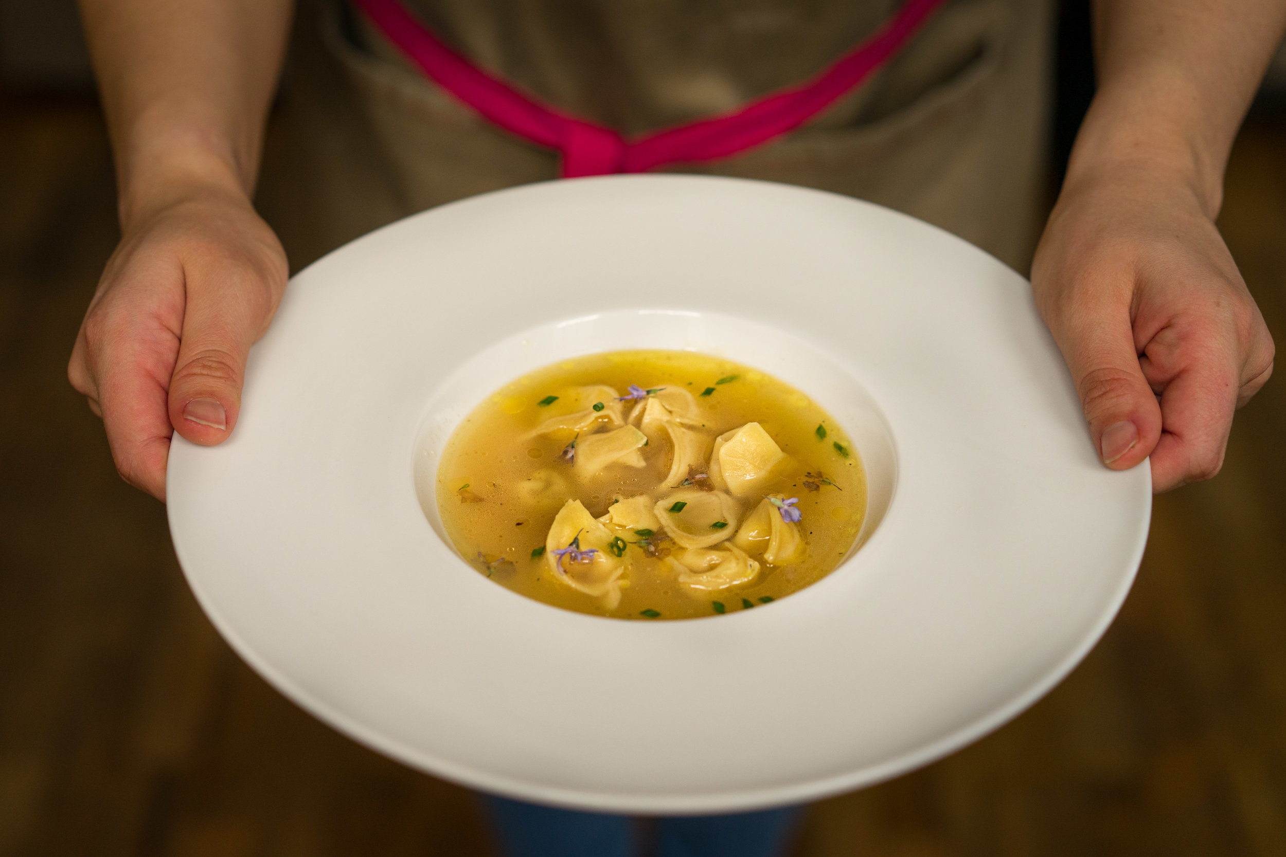 Traditional Bolognese Tortellini in Brodo