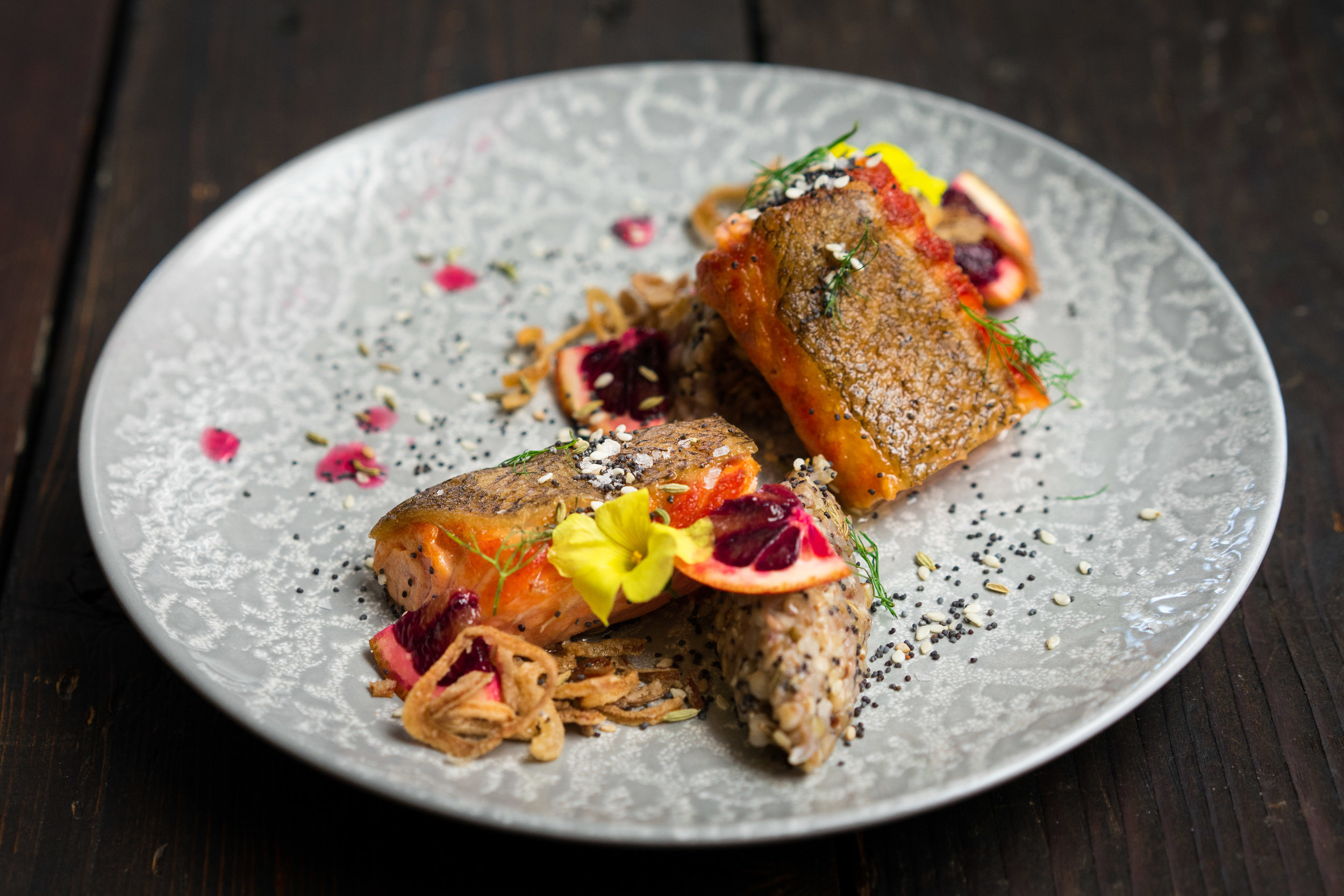 Crispy Skin Roasted Salmon