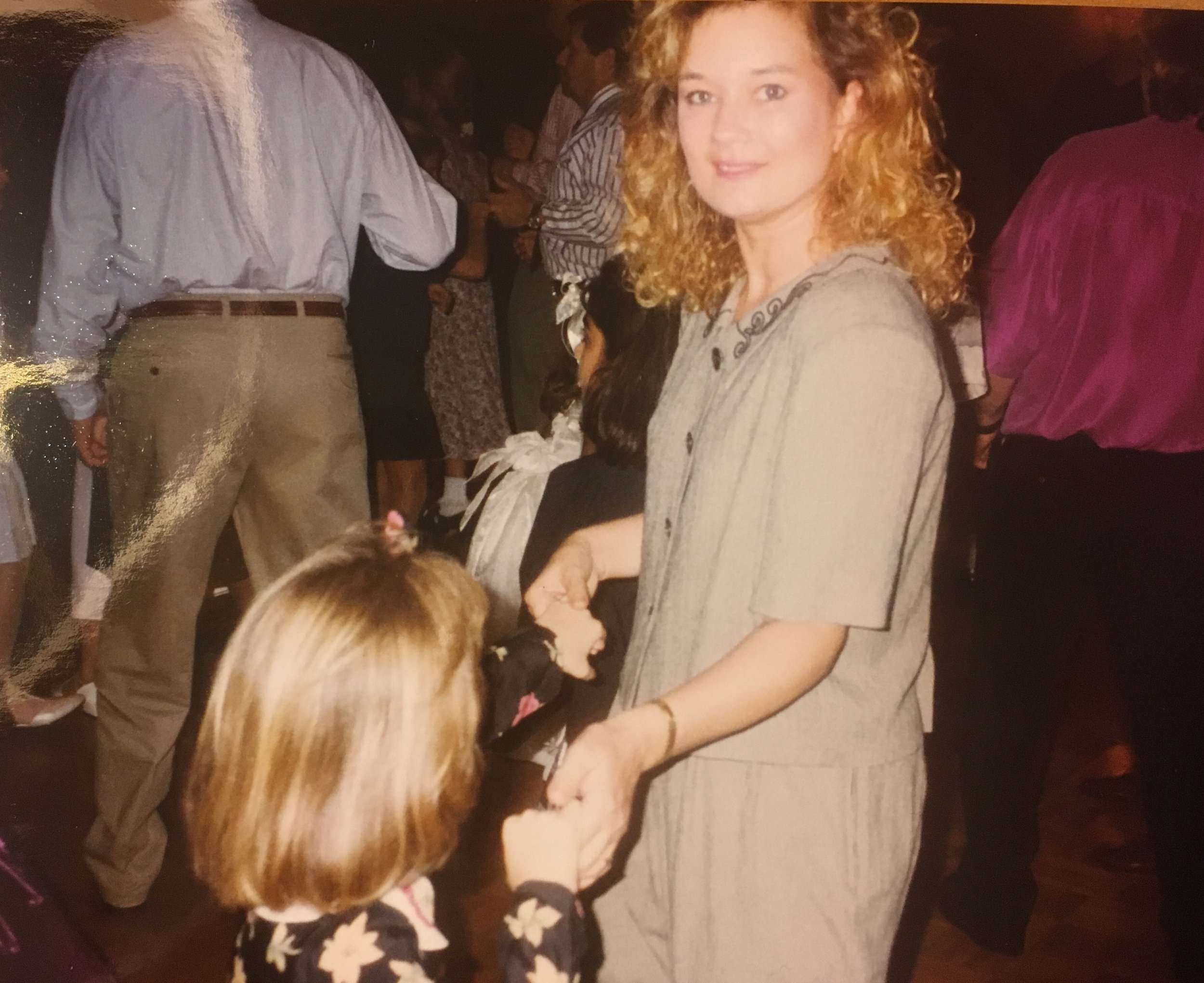 can you believe the back of my head ever looked like this? mom and i before we both started moving and became a thousand years old on the inside, 1996.