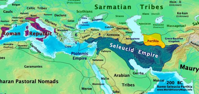 Seleucid Empire 200 B.C.