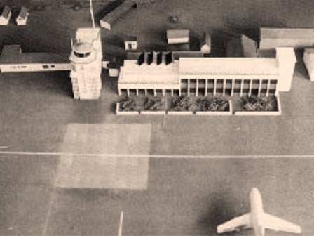 Mock up of the airport used to plan the raid.