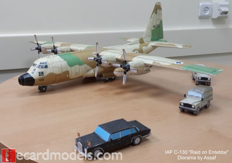 Model of the C130 and Decoy Cars