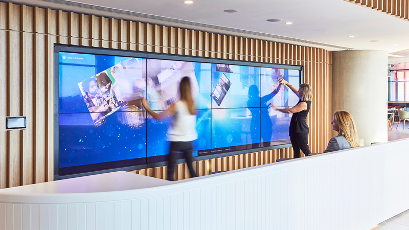 Cruiser Media Canvas in action in the ACS Innovation Hub, Barangaroo.