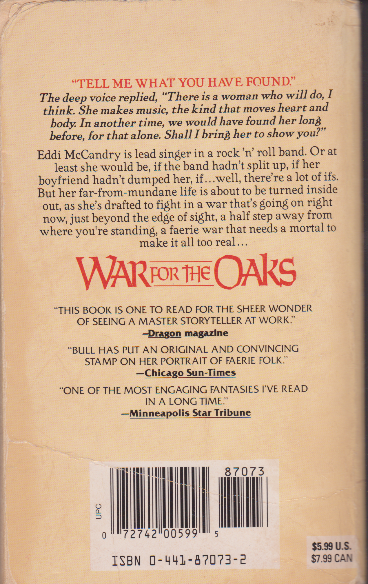 War for the Oaks by Emma Bull-back.png