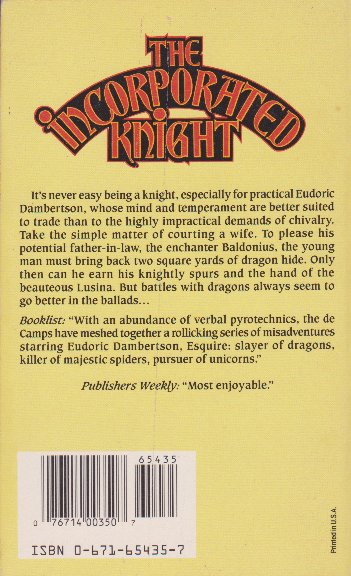 The Incorporated Knight by L Sprague and Catherine Cook de Camp-back.png