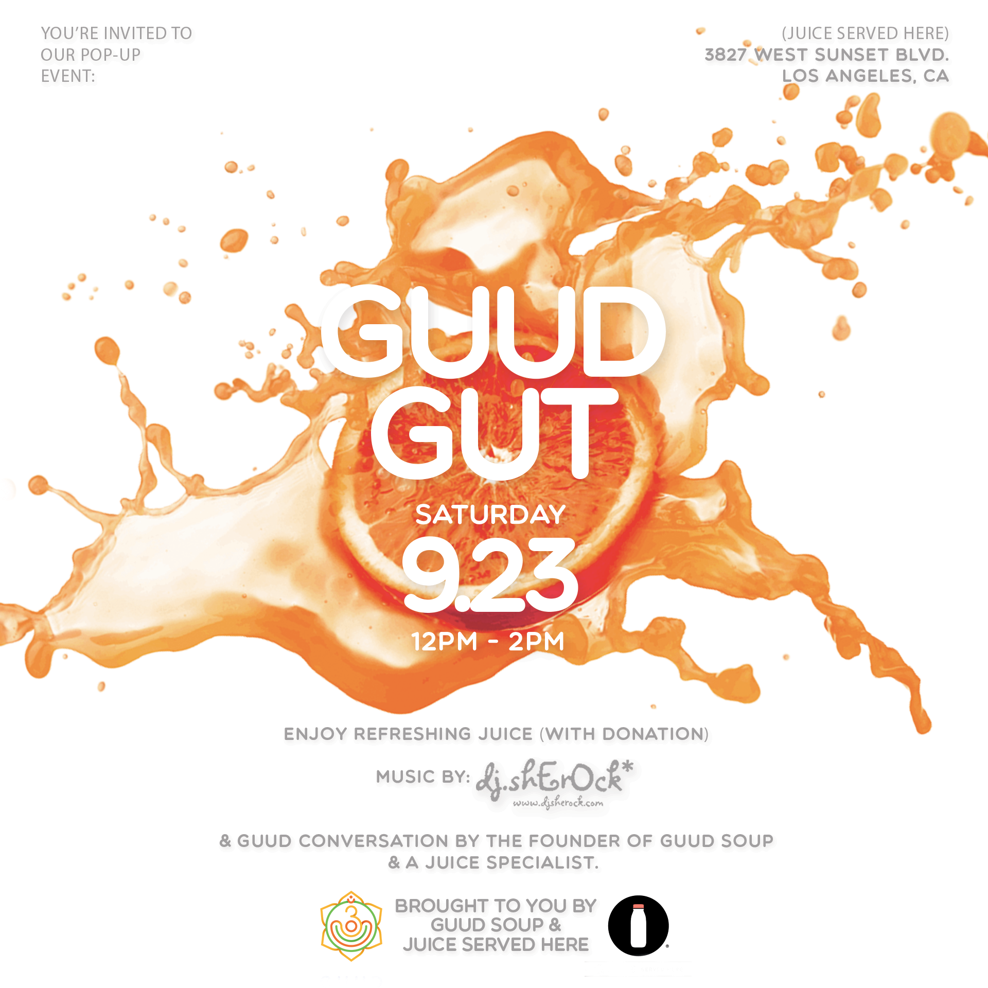 GUUD GUTGUUD SOUP X JUICE SERVED HERE -