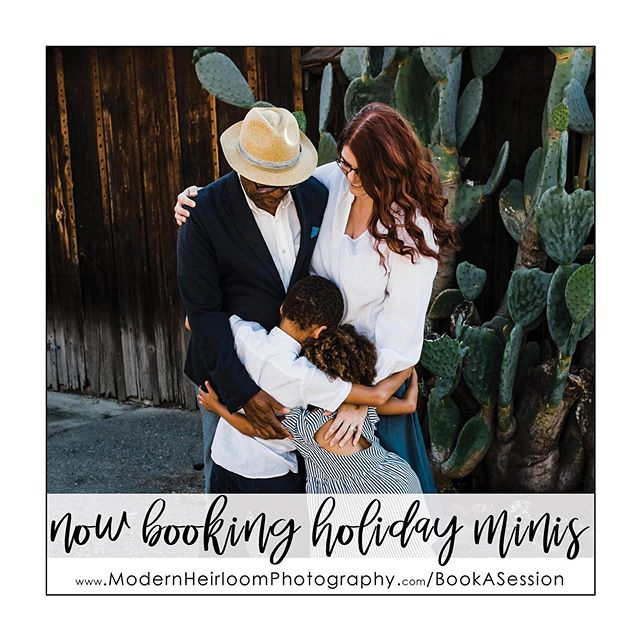 It's officially fall and holiday minis are in full swing! Limited sessions are available so book quickly. Head over to www.ModernHeirloomPhotography.com/BookASession  or click on the link in my bio for details! Xoxo