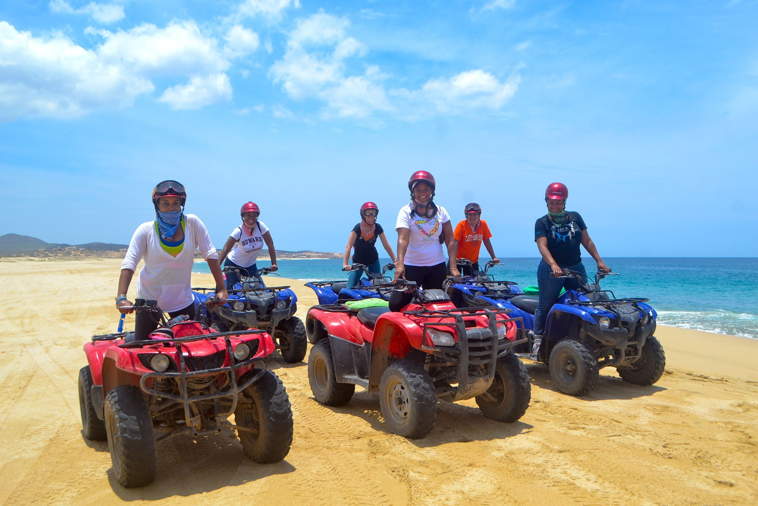 ATV RIDING  - Explores Los Cabos' beaches, desert landscapes, sand dunes, mountains, and gorgeous views of the Pacific Ocean all from an ATV. Get ready to FEEL THE RUSH!