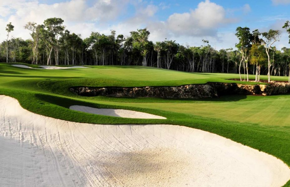 Complimentary Green Fees at RIVIERA MAYA GOLF CLUB   From November 1, 2018 through April 30, 2019:  Premium Tee Time Supplement: $35 per person and Cart fee: $90 per person  Re-rounds to be confirmed at the golf course upon availability at the end of each of the scheduled rounds with the applicable charges at the available tee time.  Shoe rentals: $15 USD per person  Golf Clubs Equipment Rental: $45 USD per person   Additional notes: Non-golfing riders will also pay the applicable charges depending on the tee time and will have access to the complimentary on-course food and beverage service provided at The Riviera Maya Golf Club. Premium Tee Time Supplements apply before 1 p.m. Guests must arrange their tee time from 45 days to 24 hours in advance with the resort concierge. The concierge will then issue guests a coupon, which will grant them access to the golf course. Tee times will be subject to availability. This offer is not applicable to groups of more than 12 players with consecutive tee times. Groups and tournaments will be quoted separately from this offer through the golf ́s group department. Restrictions apply, and the offer is subject to change at any time. Blackout dates, maintenance closings and restrictions may apply and will be informed as far in advance as possible. Availability of this offer may be restricted to some promotional rates and/or room categories, as specified within the promotions inclusions and/or restrictions, where if not included will be available on the resorts with a surcharge. Policies and rules of the golf course always apply. These will be presented at the golf course upon arrival and they are independent from the hotel.    Dress Code Men: Collared shirts and mid-thigh (non-denim) length shorts Women: Appropriate golf attire, no bathing suits.