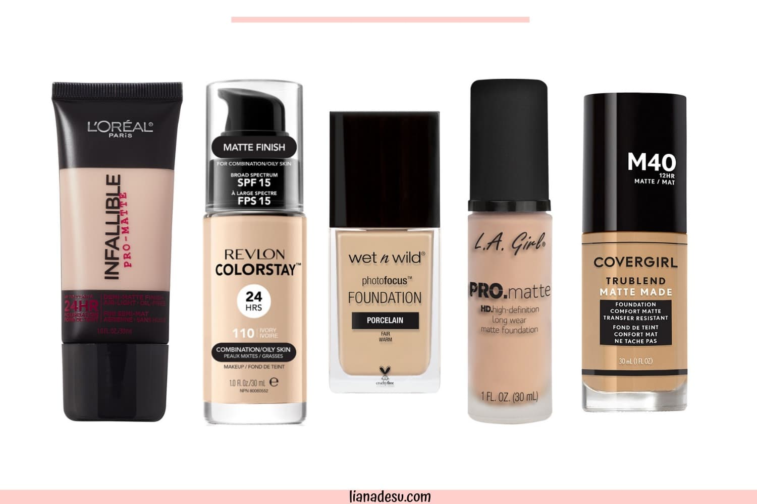 Finding the right foundation for your skin type can be tough, right? I know the struggle! If you have oily skin, this post is for you! I'm sharing the best drugstore matte foundations for oily skin, plus tips on how to keep foundation matte all day! Check out the post for the top 10 best drugstore foundations for oily skin! #drugstore #foundation #oilyskin