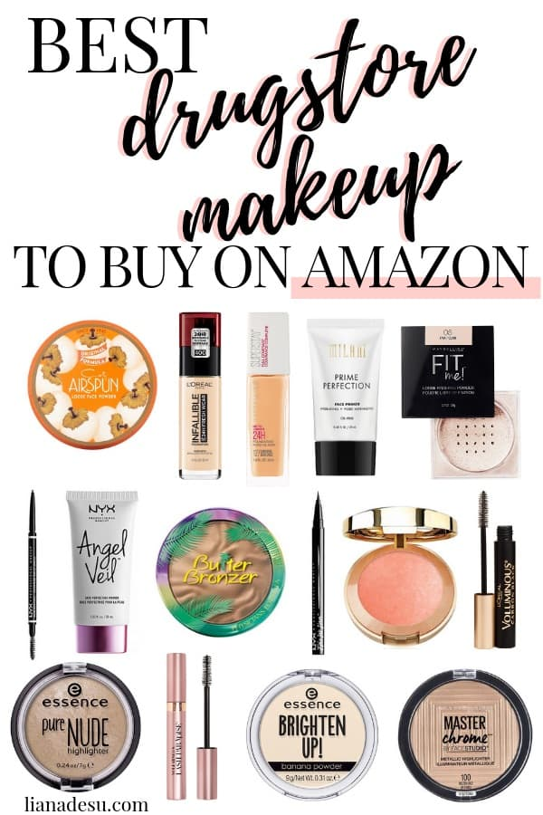 Did you know you can buy makeup on Amazon? This post will cover the best Amazon drugstore makeup buys! These are the best-selling drugstore makeup products on Amazon that you need to put in your shopping cart right now! #amazon #drugstore #makeup