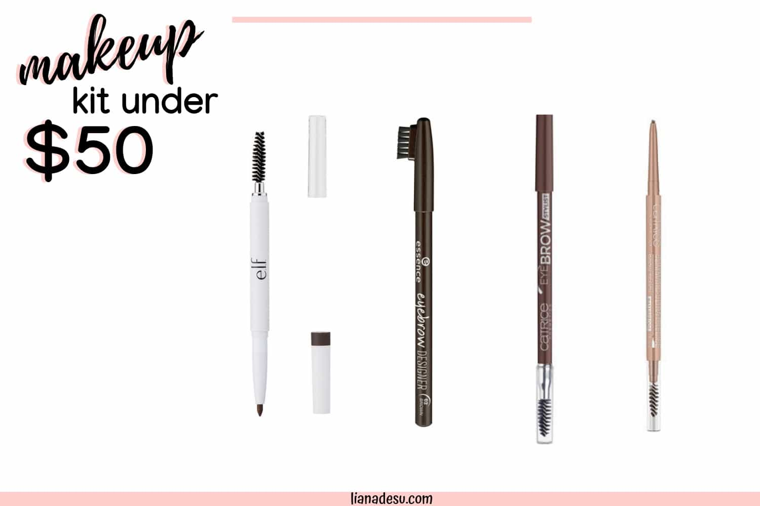 A full face of drugstore makeup for under $50! Get everything you need to do your makeup for a total of under $50! Amazing drugstore makeup products for cheap! #drugstore #makeup #budget #lianadesu