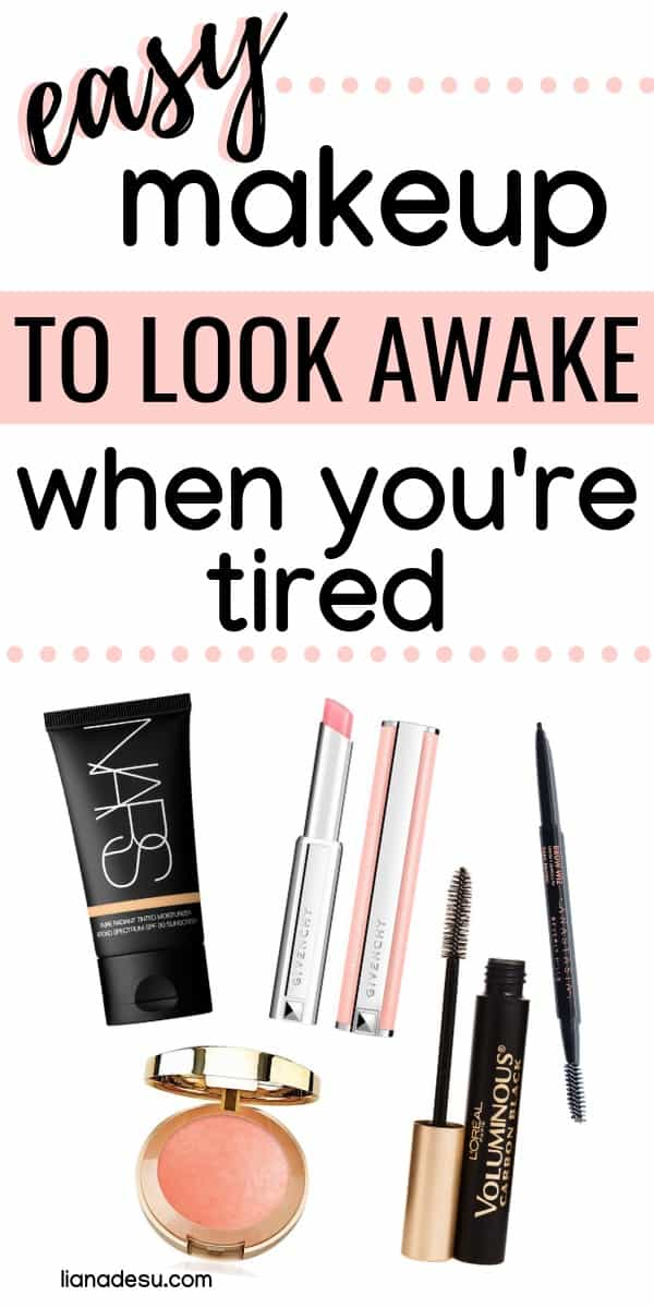 We all have those mornings where we just don't have enough time for makeup! With these essential makeup products for quick and easy makeup on busy mornings, you can go from tired to refreshed! #easy #makeup #natural #lianadesu