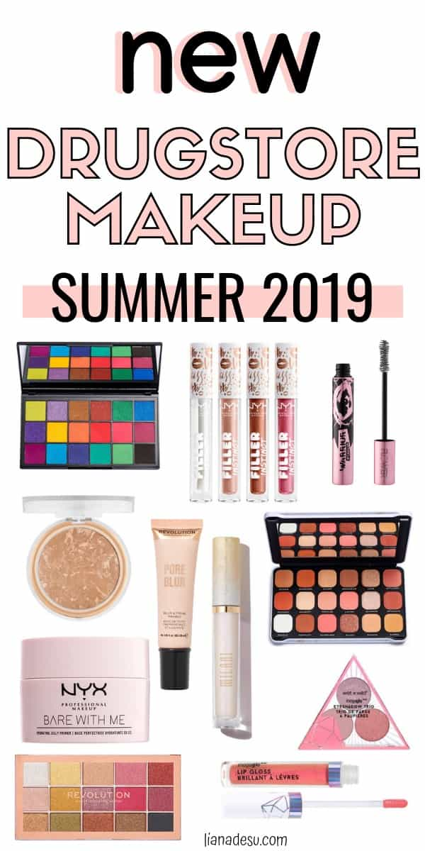 There are a ton of new drugstore makeup products newly released for summer! Find out what new products from the drugstore you should try! Summer 2019 #drugstore #makeup #new #summer #lianadesu
