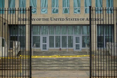 PHOTO:A view of the U.S. Embassy in Havana, Cuba, September 29, 2017. REUTERS/Alexandre Meneghini