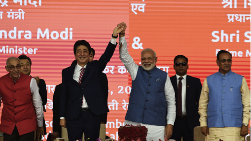 Shinzo Abe lays the foundation for Japanese bullet train with Narendra Modi (Source: mailchi.mp)
