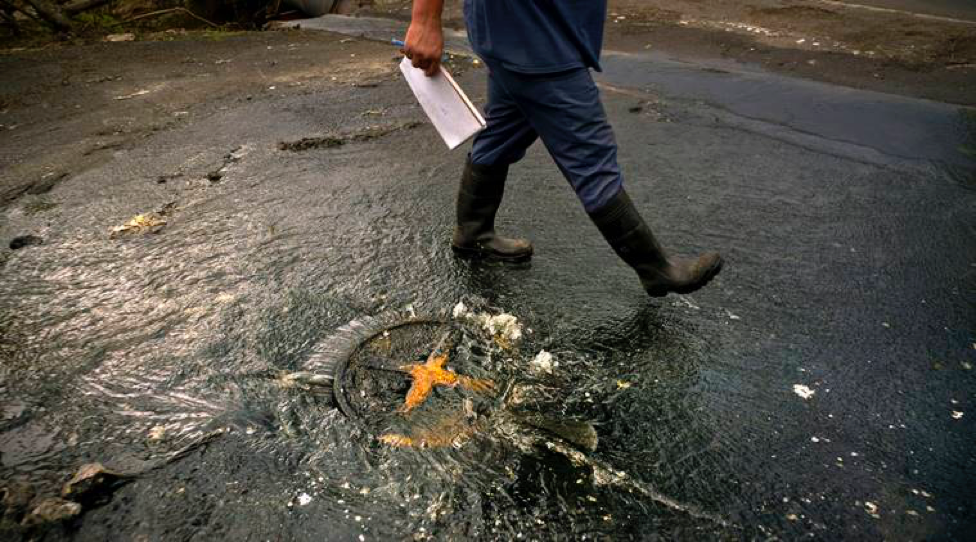 Photo: Raw sewage contaminating waters in Puerto Rico after Hurricane Maria  Photo Courtesy: Associated Press