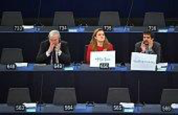 EU Parliament discusses sexual harassment.  Photo Courtesy: Getty Images.