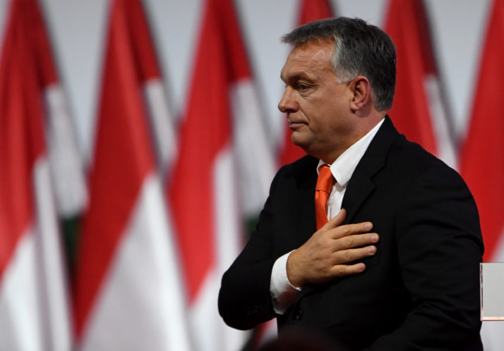Hungarian Minister Viktor Orban, seen here in Budapest on November 12, 2017, has troubled policymakers in both the U.S. and Europe due to his increasing grip on the country's media |  Attila Kisbenedek/AFP     Photo Courtesy: Getty Images
