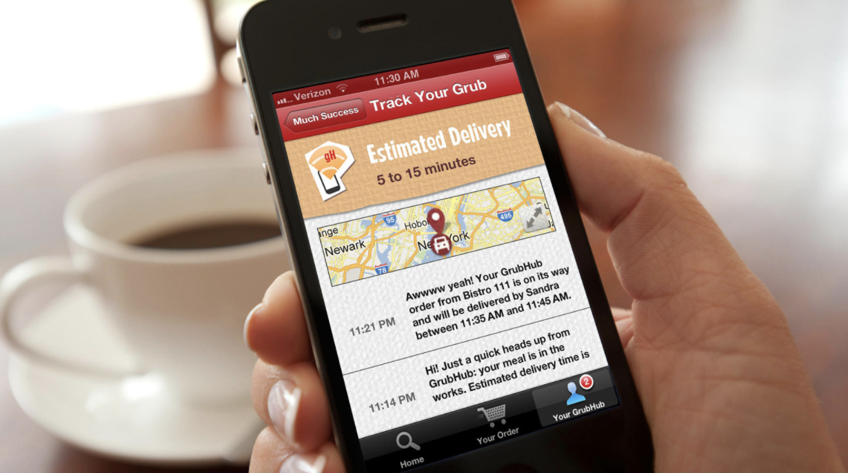 GrubHub is the largest food-delivery app in the state (Credit: GrubHub)