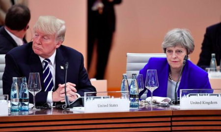 US President Donald Trump and British Prime Minister Theresa May (The Guardian/Reuters)