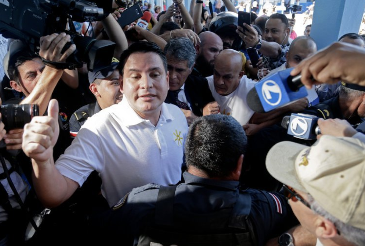 Photo: Fabricio Alvarado after he won Sundays first round of presidential voting in San Jose, Costa Rica.  Source: NYT
