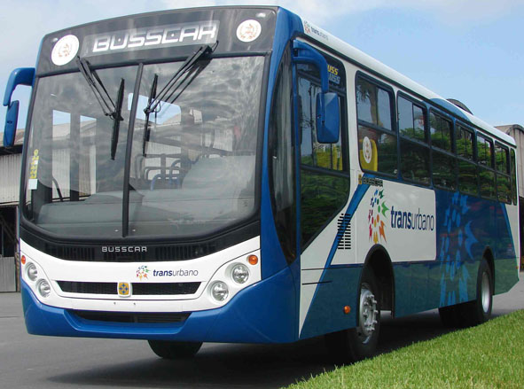 A Transurbano bus, the system currently being called into question (La Noticia en Guatemala)