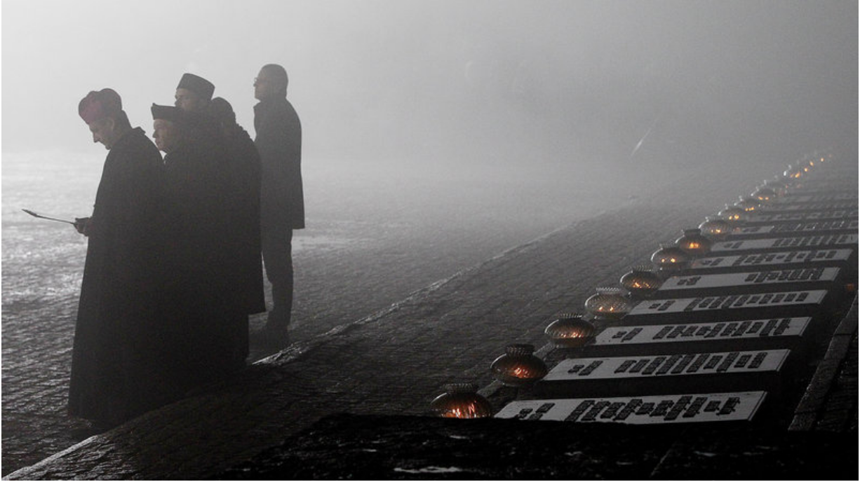 [Representatives of various religious congregations gathered in Oswiecim, Poland, on Jan. 27, 2018, to commemorate the victims killed at the Nazi extermination camp of Auschwitz II-Birkenau. Photo: Czarek Sokolowski/AP]