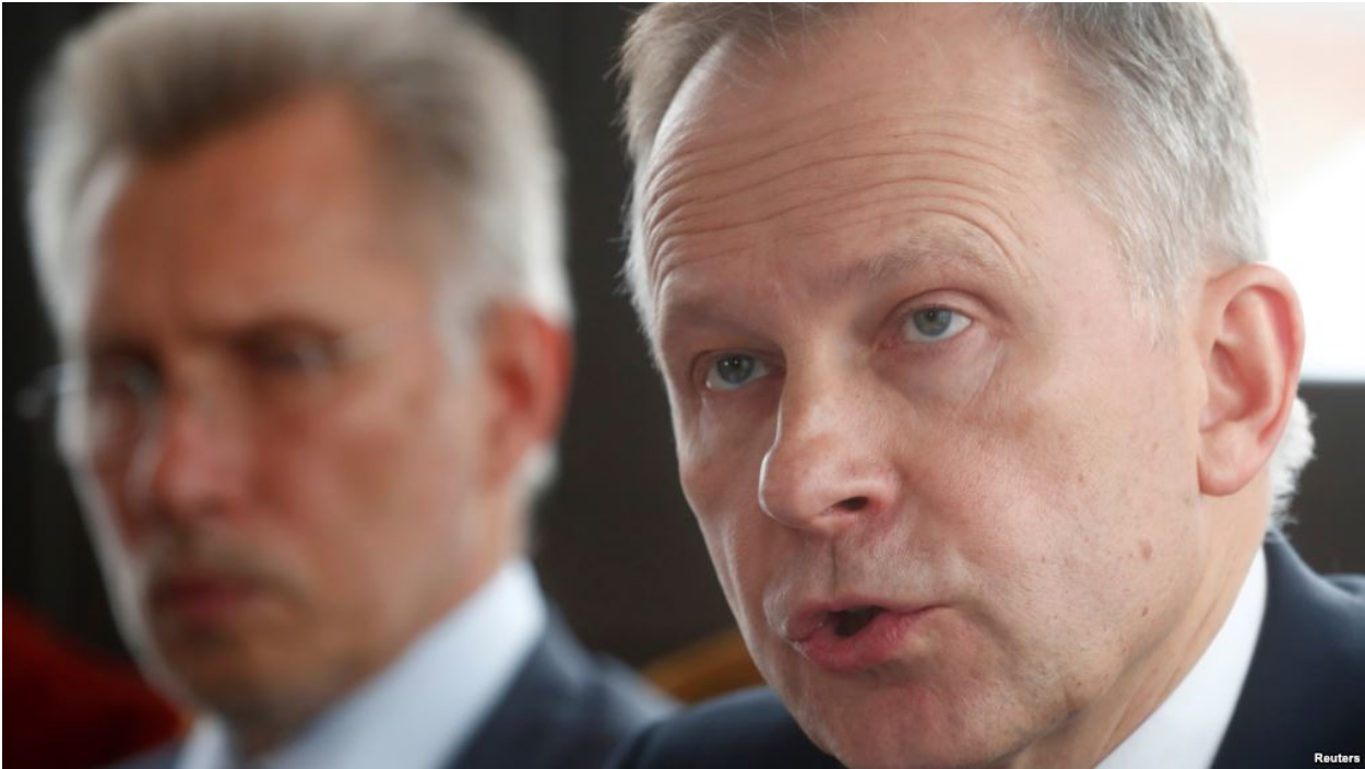 [Latvia's central bank governor Ilmars Rimsevics addresses the media at a press conference on Feb. 20, 2018. Photo: REUTERS]