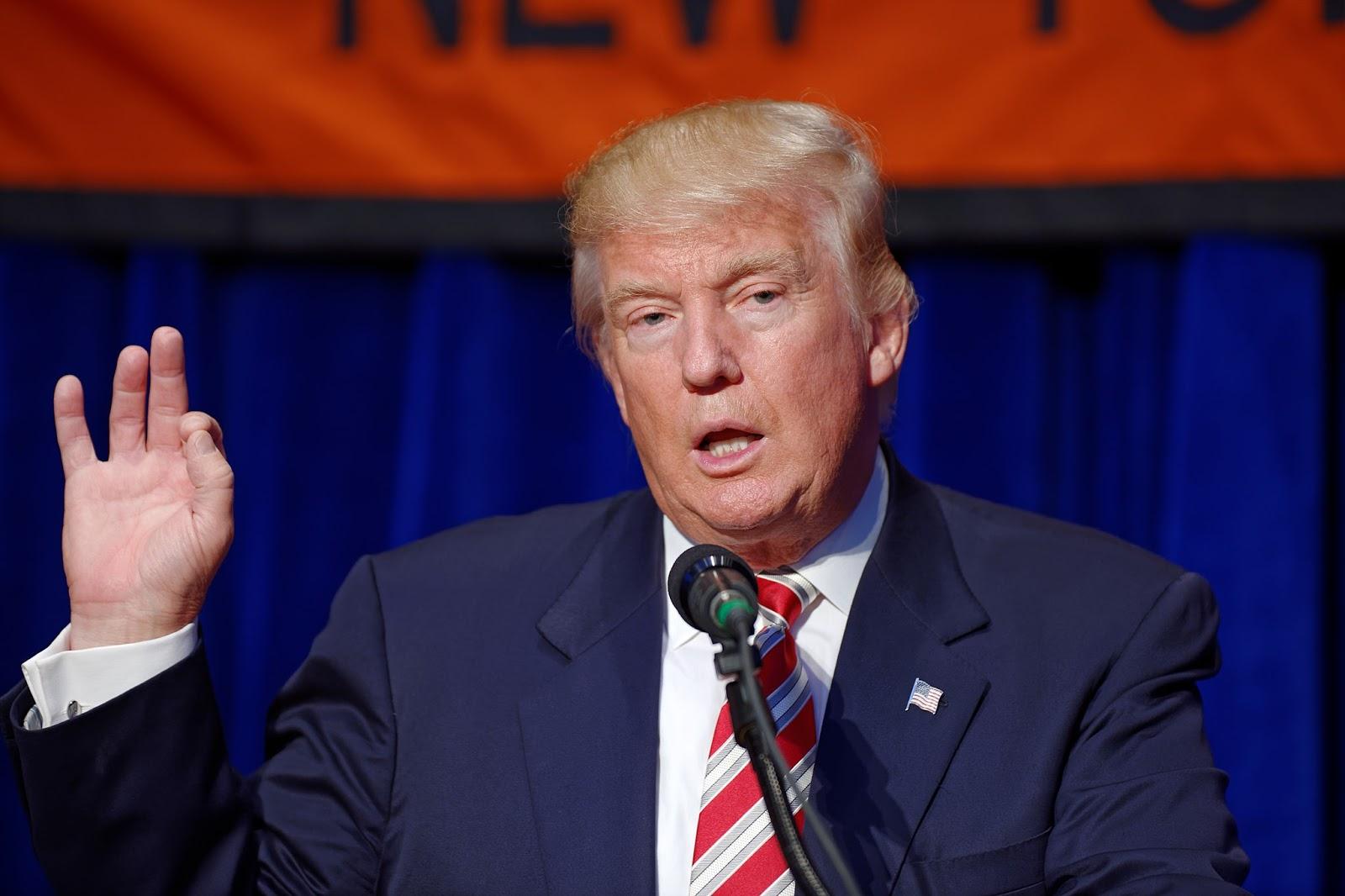 President Donald Trump. Source:  Michael Vadon/WikiCommons