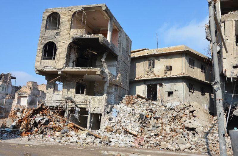AFP Photo/Ahmad MUWAFAQ   Destruction in Mosul in February 2018