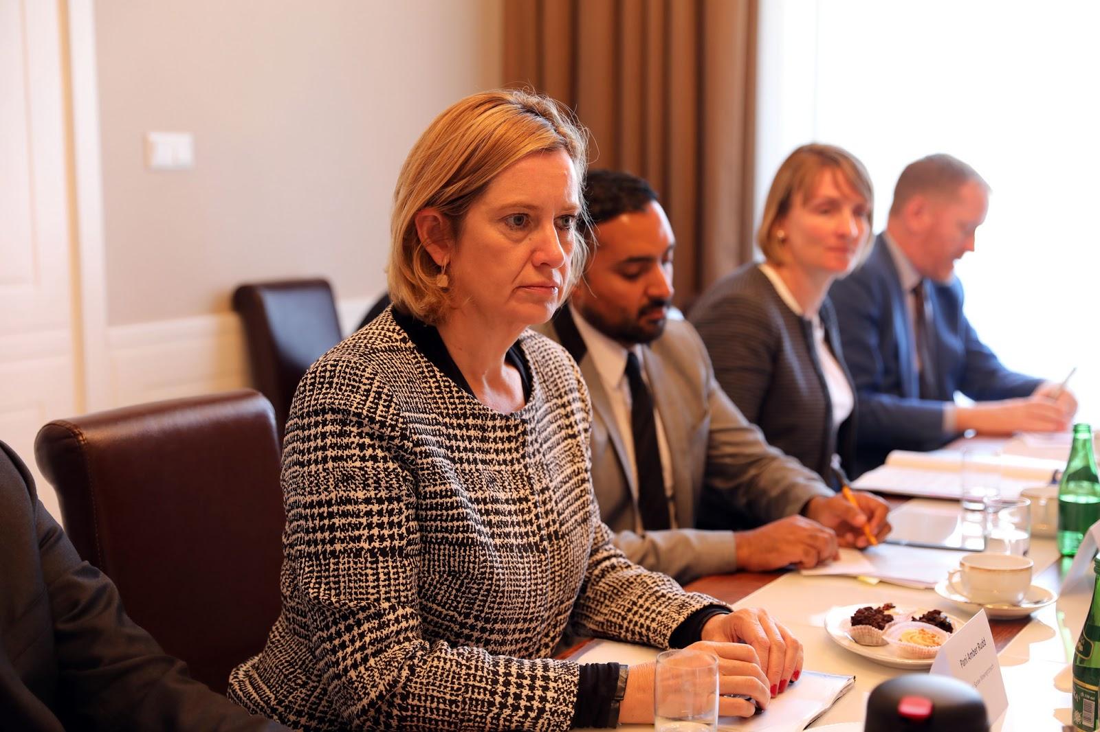 "Home Secretary Amber Rudd has called the attack ""brazen and reckless"". Source:  Ministerstwo Spraw Wewnętrznych i Administracji/Flickr"