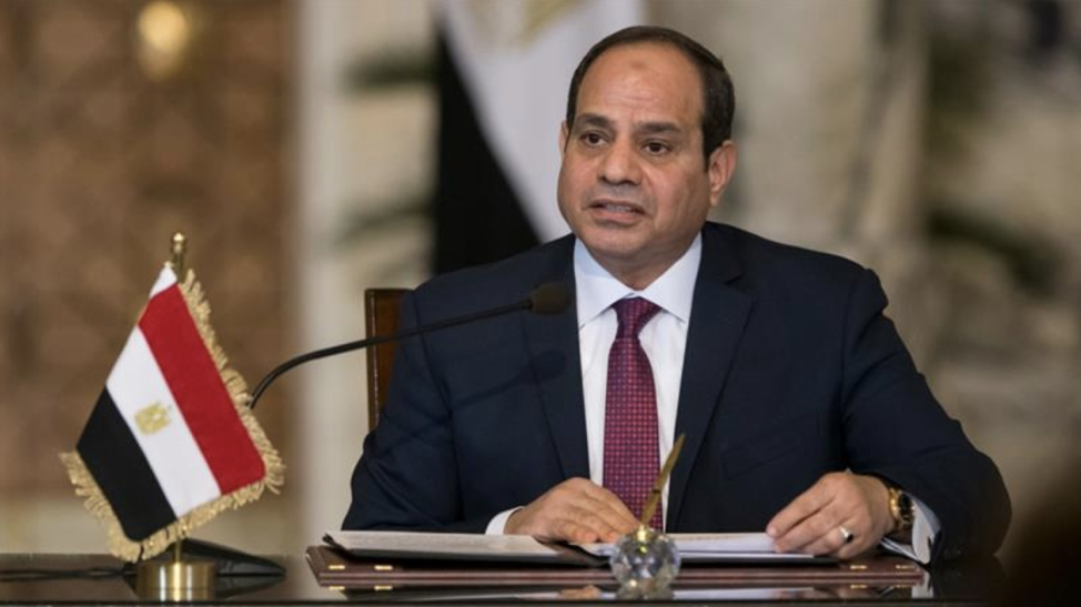 Egyptian President Abdel Fattah Al-Sisi, who announced his plans to seek a second term on February 4th. (Source:  https://www.aljazeera.com/news/2018/01/egypt-presidential-election-rendered-irrelevant-180122125426620.html )