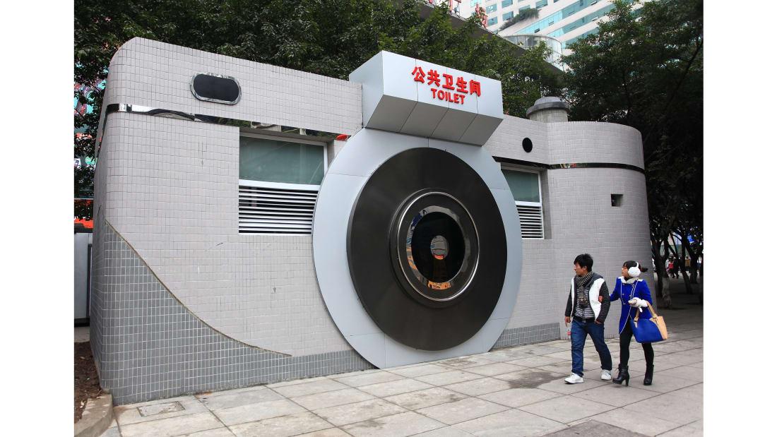 A public toilet in China (CNN)