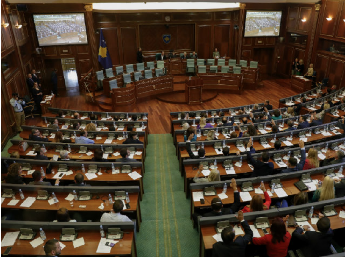 [A file photo of Kosovo's unicameral legislature, the Assembly of the Republic of Kosovo. Photo: Valdrin Xhemaj/EPA]