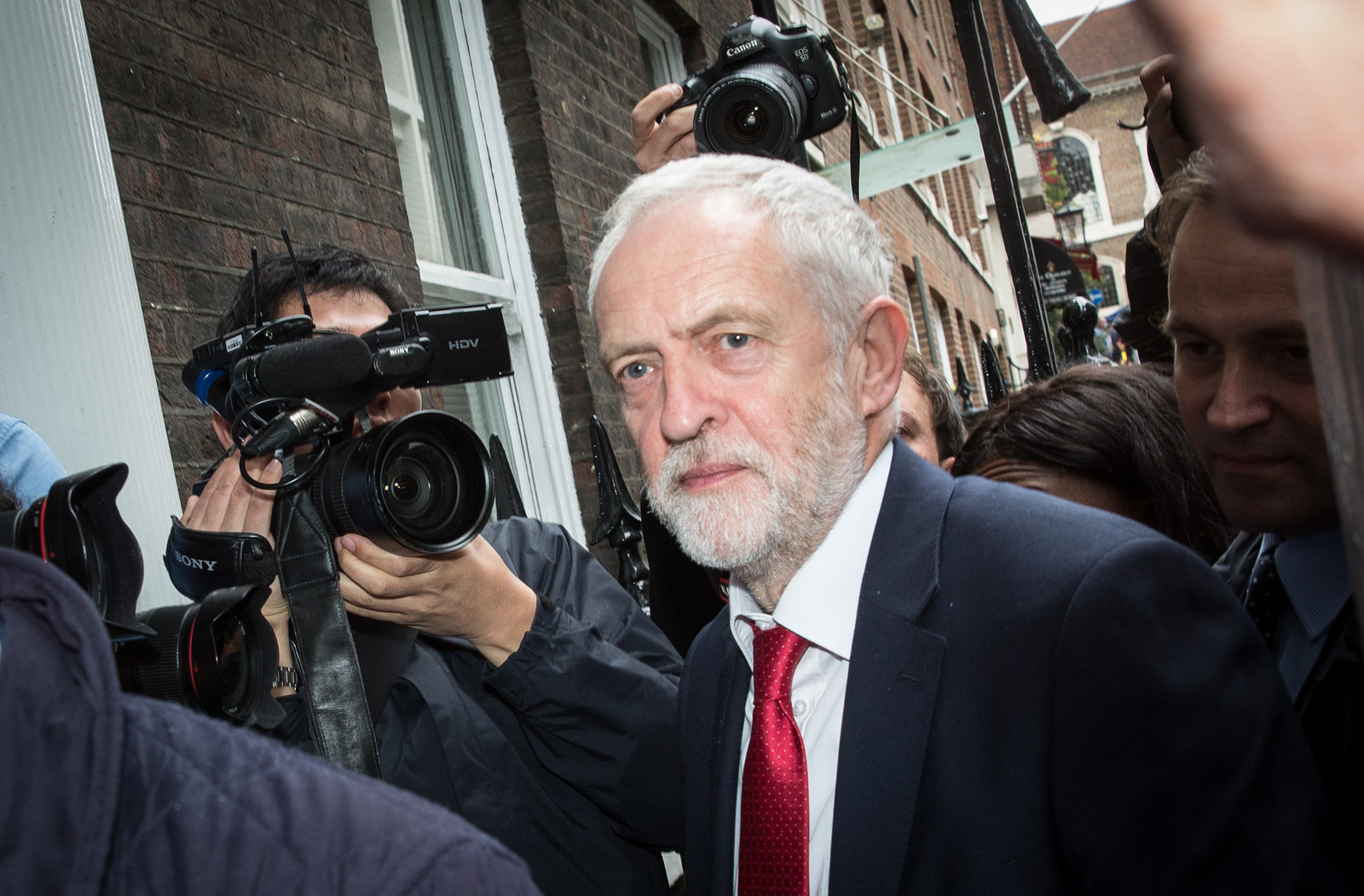 "Jeremy Corbyn has called the strike ""legally questionable."" Source:  Chatham House/Flickr"