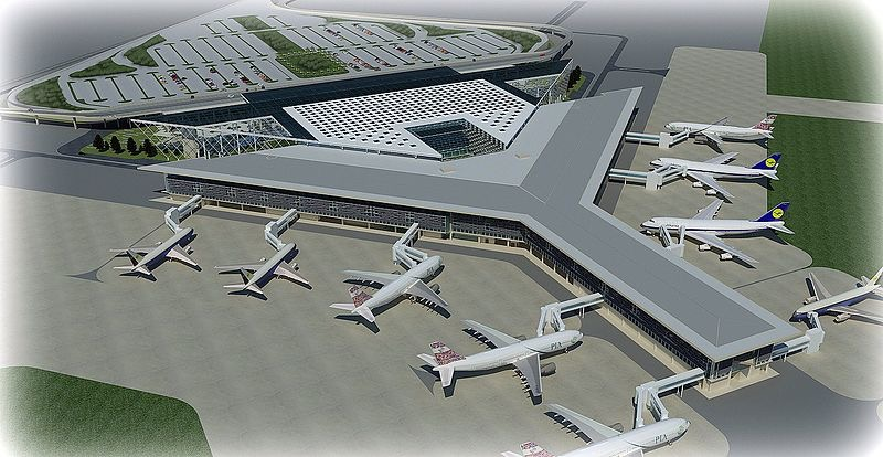 The design of the new Islamabad International Airport. (Source:  Wikimedia Commons )